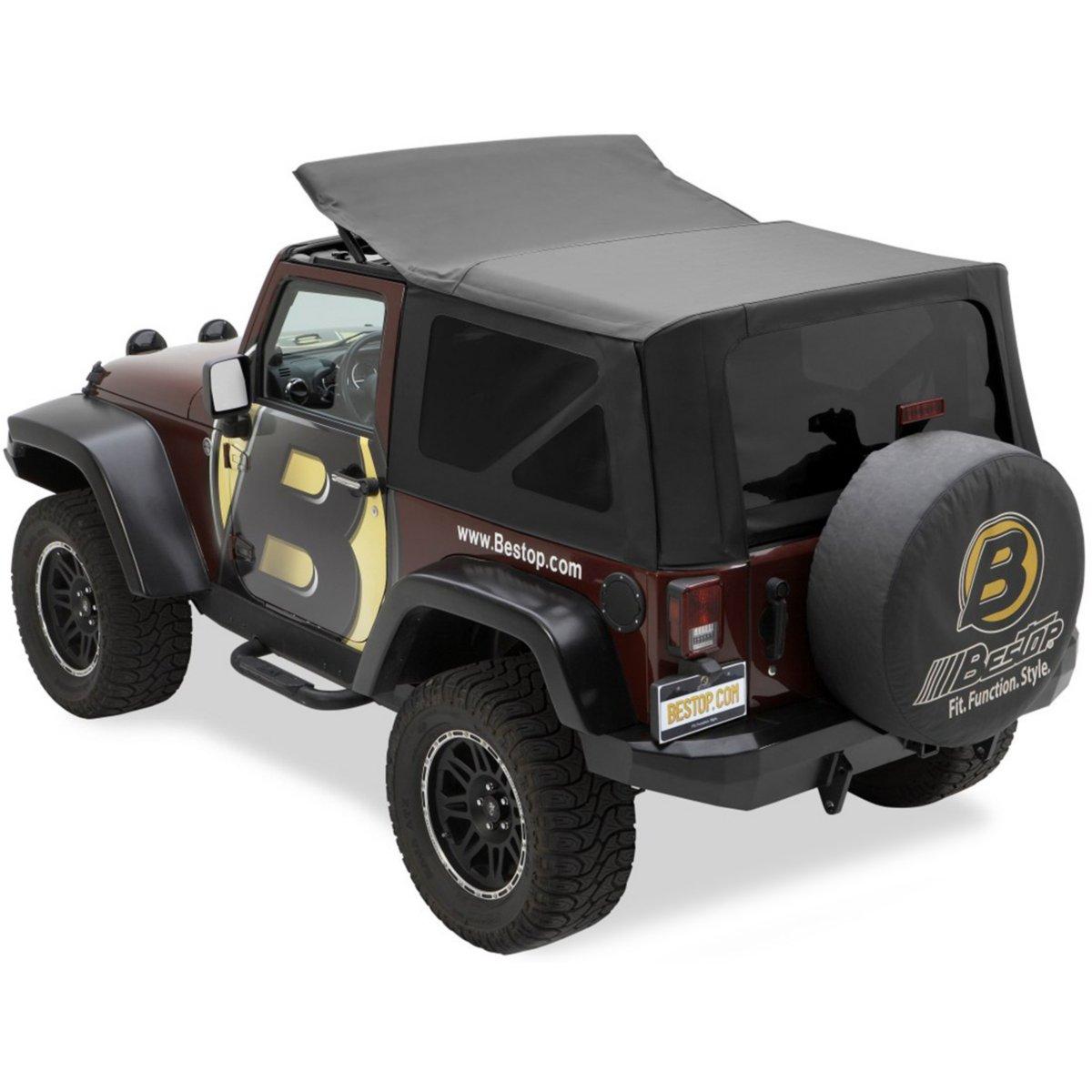 bestop soft top new black jeep wrangler 2011 2014 79146 35 ebay. Black Bedroom Furniture Sets. Home Design Ideas