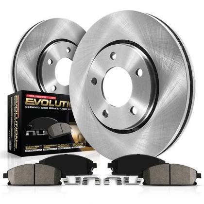 KOE1233 Powerstop Brake Disc and Pad Kits 2-Wheel Set Front New ...